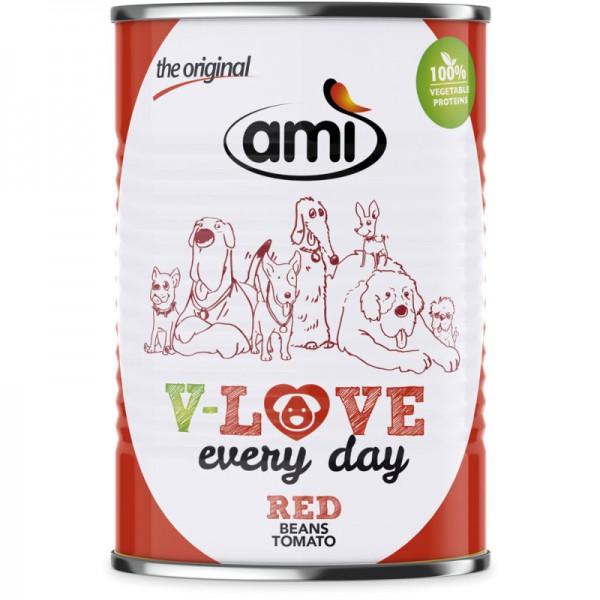V-Love Red Hunde Nassfutter Beans & Tomato , 400g - Ami