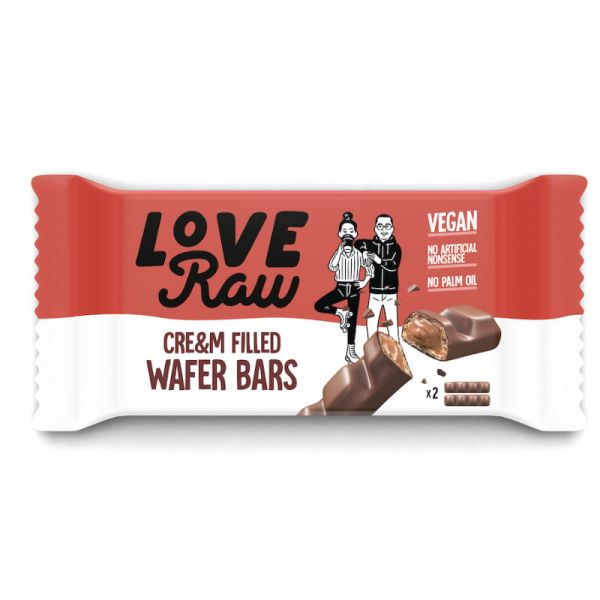 Cre&m Filled Wafer Bars, 43g - Love Raw