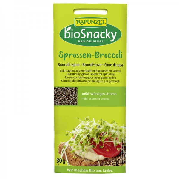 Bio Snacky Sprossen-Broccoli Bio, 30g - Rapunzel
