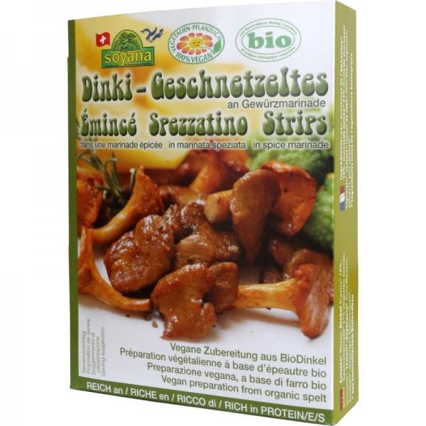 Dinki-Geschnetzeltes an Gewürzmarinade Bio, 200g - Soyana
