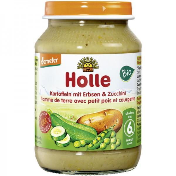 Kartoffeln mit Erbsen & Zucchini Gemüsegläschen Bio, 190g - Holle