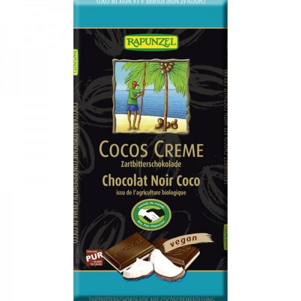 Cocos Creme Zartbitterschokolade Bio, 100g - Rapunzel