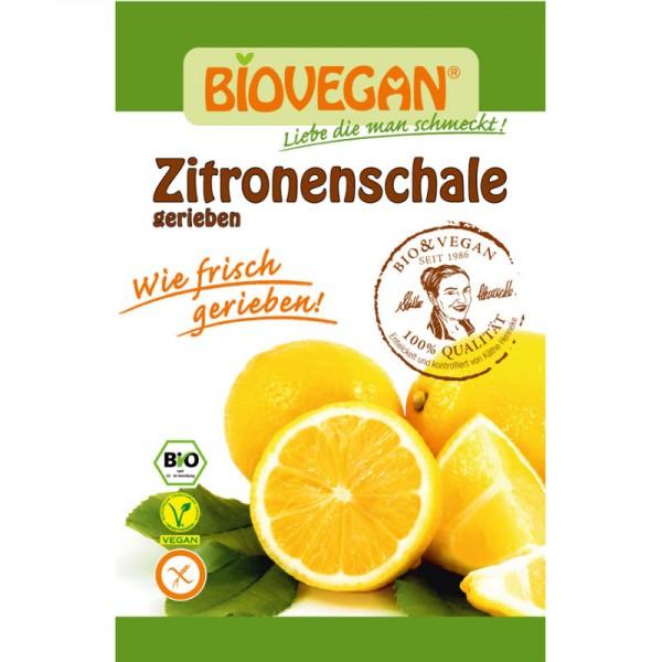 Zitronenschale gerieben Bio, 9g - Biovegan