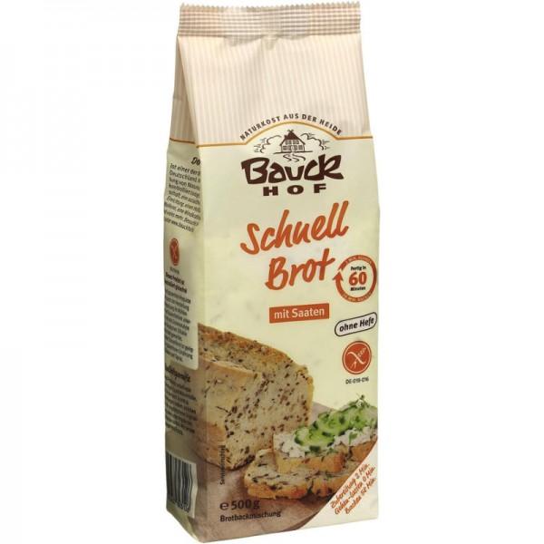 Schnell Brot mit Saaten Backmischung Bio, 500g - Bauckhof