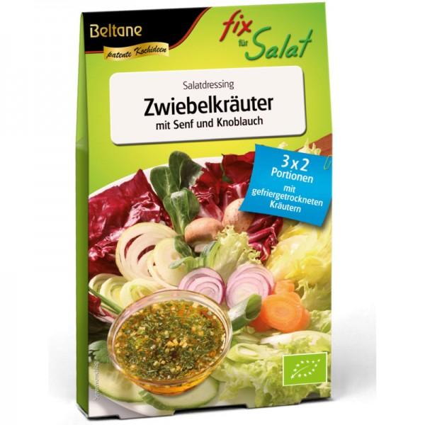 Fix für Salat Zwiebelkräuter mit Senf + Knoblauch Bio, 27g - Beltane