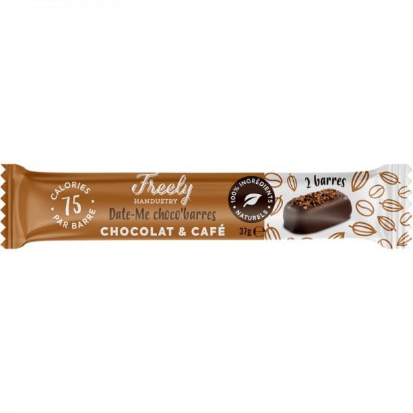 Date-me Schoko Barren Schokolade & Kaffee Bio, 37g - Freely Handustry