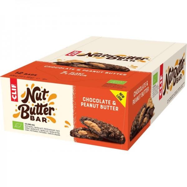 Nut Butter Filled Chocolate Peanut Butter Bio Box, 12 Stück - Clif Bar
