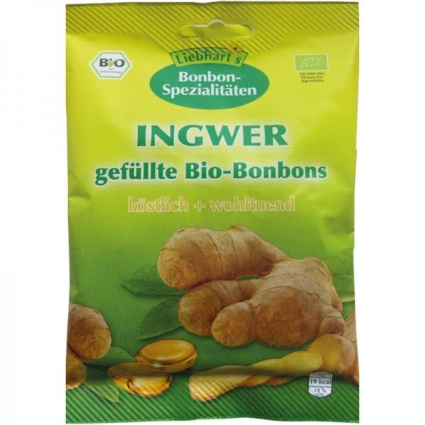 INGWER gefüllte Bonbons Bio, 100g - Liebhart's